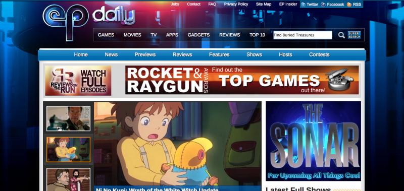 EP Daily screenshot on January 2013